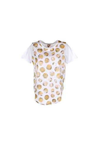 T-shirt Donna Anis L Bianco/giallo D17338 Primavera Estate 2017