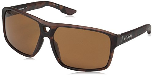 Columbia Men Aviator - Columbia Men's Black Ridge P Polarized Aviator Sunglasses, Matte Tortoise, 62 mm