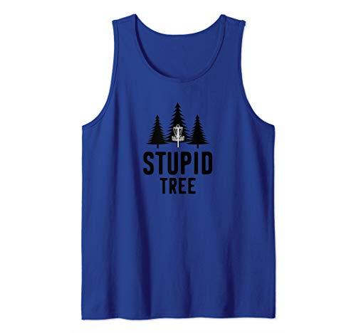 Stupid Tree Disc Golf Funny Frisbee Golf Gift Tank Top