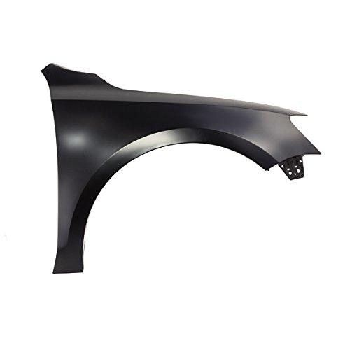 (CarPartsDepot, Front Passenger Right Side Fender Panel Primered Steel Without Side Lamp Hole RH, 371-451124-02 VW1241142 5C6821106)