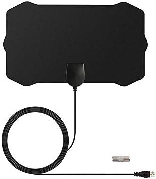Antena de TV para Interiores, TY22 TV Digital portátil HDTV Antena de TV Antena HD Skywire Receptor de señal con Rango de 200 Millas Compatible con ...