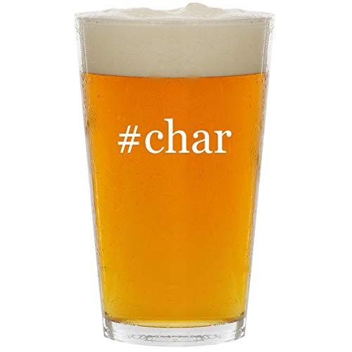 #char - Glass Hashtag 16oz Beer Pint