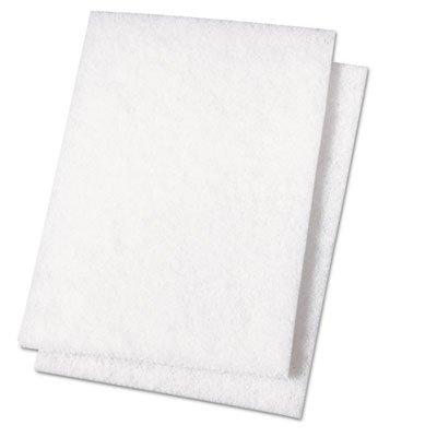 PAD198 Light Duty Scour Pad, White, 6 x 9 ()