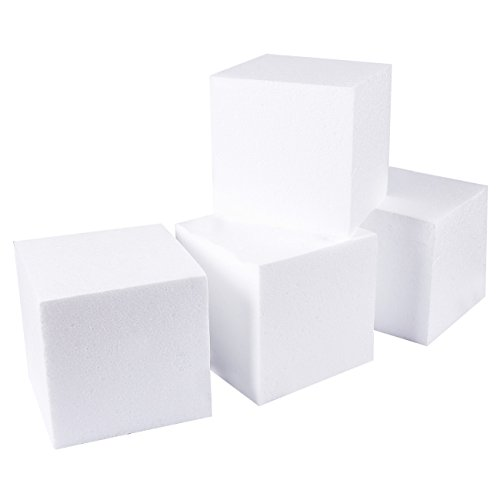 Styrofoam Cubes - Craft Foam Cube - 4-Pack Square