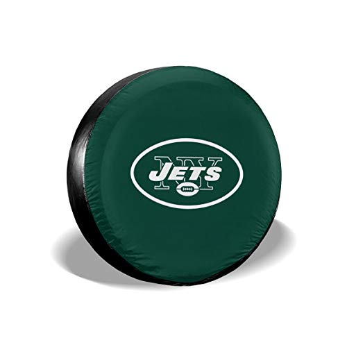 (Sorcerer Design Colorful Waterproof Tire Cover New York Jets American Football Team Unisex Protection Spare Covers Storage Wheel Cover for Car Off Road)
