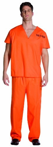 [Rasta Imposta Jailhouse Uniform, Orange, One Size] (Jail Costume For Kids)