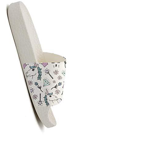 Crown Womens Diamond Diamond Guxefi Comfort Outdoor Unicorn Flop Open Crown Shower Toe Slides Sandals Flip Unicorn gxOOUwA