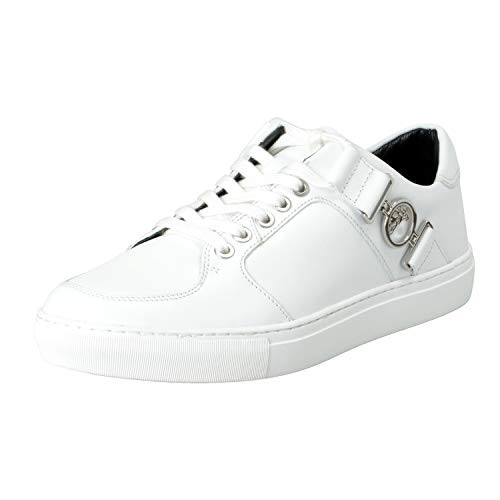 Versace Collection Men's White Leather Fashion Sneakers Shoes Sz US 7 IT 40