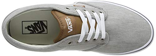 Vans Men's Atwood Canvas' Trainers, Grey ((Enzyme Wash) Drizzle ...