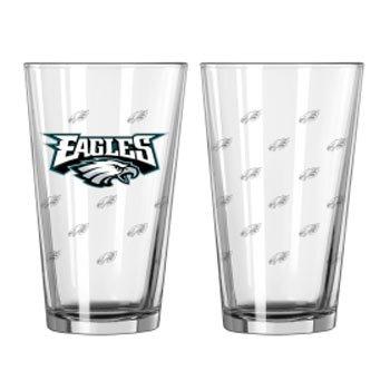 Boelter Brands NFL Philadelphia Eagles 129196 Pint Glass, Clear, One Size