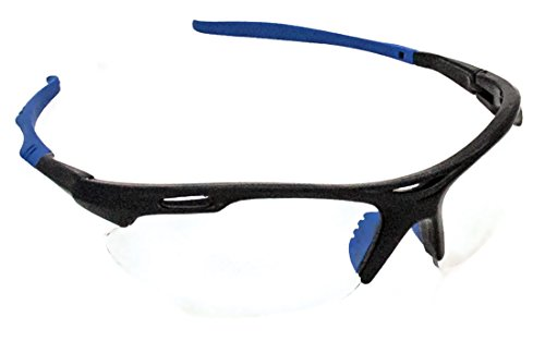 Ironwear Defogger 3095 Series Nylon Protective Safety Glasses with Anti-Fog Protection, Clear Anti-Fog Lens, Black Frame (Series Safety Glasses Black Lens)