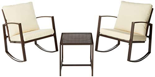 W HOME Rocker 3 PCs Furniture Set, Brown