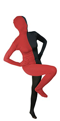 Split Black and Red Full Body