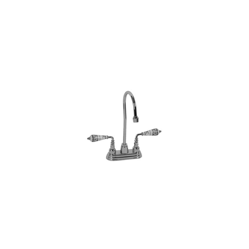 BAR 248PG PG Polished Gold Bathroom Sink Faucets 4 Centerset Bar