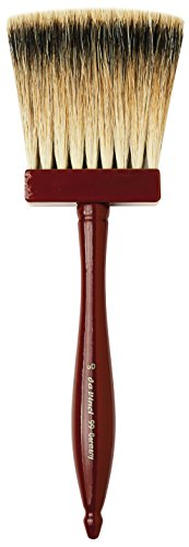 da Vinci Varnish & Priming Series 99 Softener Brush, 3-Row Thickness Pure Badger Hair with Wood Handle, Size 60 by da Vinci Brushes