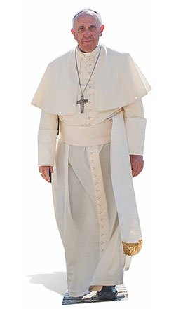 Star Cutouts Pope Francis Life Size Cardboard Cut Out, Multi-Colour STAR CUTOUTS LTD SC940