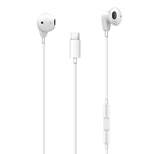 Earphones Stereo Digital (USB Type C Earphones Stereo Digital Wired Headphone with Mic, Compatible with Pixel 2/2XL, Huawei P20 and iPad Pro 2018)