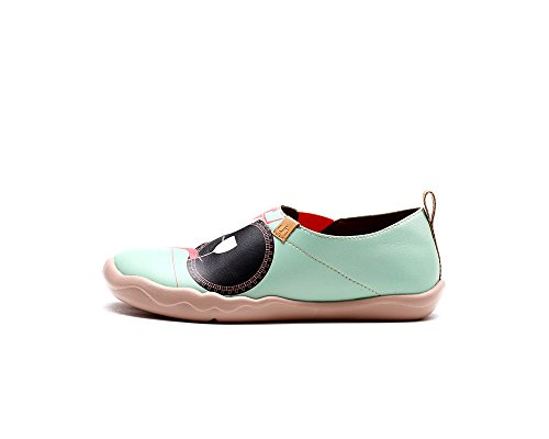 UIN Women's Unforgettable Evening Fashion Printed Loafer Flats Green XqmH2