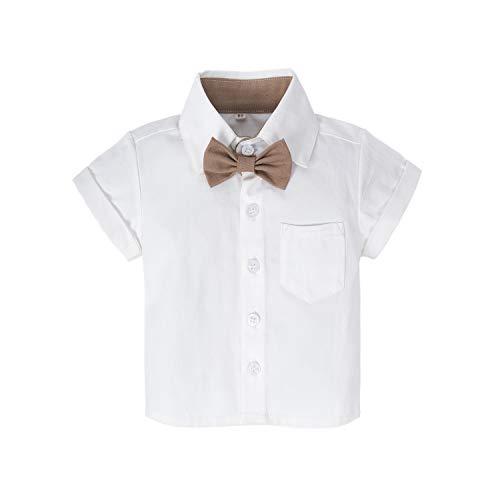 BIG ELEPHANT Baby Boys'2 Piece T-Shirt Suspender Shorts Clothing Set NA42