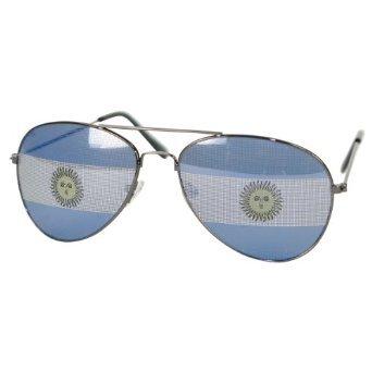 Classic Rounded Aviators Style Designer Inspired Sunglass - Argentina Flag - Sunglasses Argentina