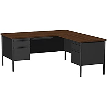 Amazon Com Office Dimensions L Inch Desk With Right Hand