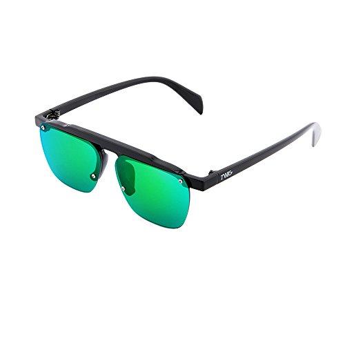 espejo Verde degradadas FOUCAULT sol TWIG hombre Gafas Negro de mujer wqHzII