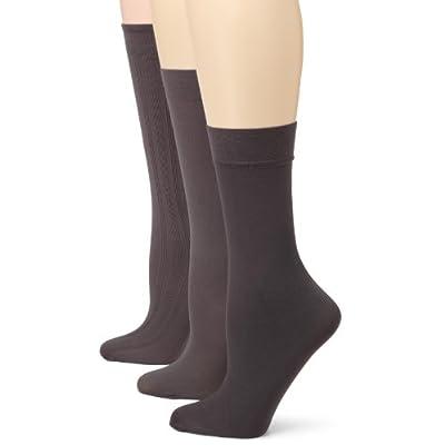 Angel Hosiery Womens 3 Pair Pack Shimmer Socks, Grey, One Size at Amazon Women's Clothing store: Dress Socks