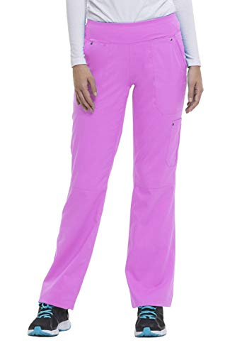 healing hands Purple Label Yoga Women's Tori 9133 5 Pocket Knit Waist Pant Shocking Pink- X-Large Tall
