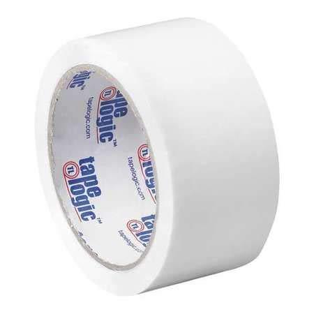 Carton Sealing Tape, 2x55 yd, White, PK6