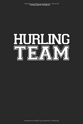 Hurling Spieler Notizbuch: 100 Seiten   Kariert   Trainer Irland Hurl Fan Sliotar Gälisch Hurler Ire Irisch Fußball Team Geschenk