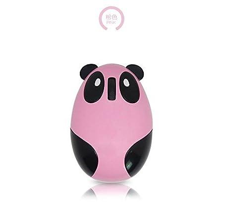 rrrob batería Panda con forma de USB Mini ratón óptico inalámbrico para PC portátil Windows rosa rosa 95*66*40mm: Amazon.es: Informática