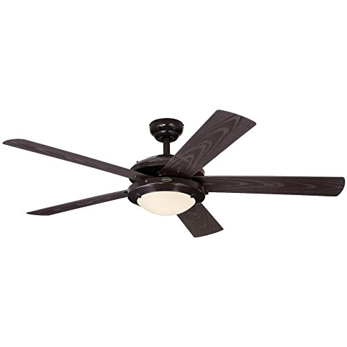 5 Blade Swirl Ceiling Fan (Westinghouse 7200700 Comet Two-Light 52