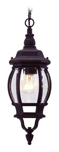 Livex Lighting 7523-04 Frontenac 1 Light Outdoor Hanging Lantern, Black
