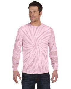 - Tie Dye C2000 Adult Tie-Dyed Long-Sleeve Tee - Pink Spider, Medium