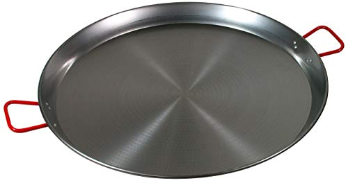 Paella Pan Open - Garcima 32-Inch Carbon Steel Paella Pan, 80cm
