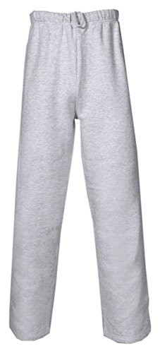 - Badger Sport Youth Open Bottom Sweatpants with Pockets - 2277 - Oxford - Large