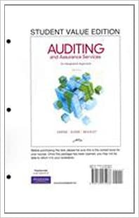 auditing and assurance services 16th edition