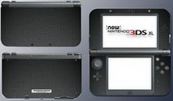 Blazers Skins - Carbon Fiber Look Style Video Game Decal Sticker Print Skin New Nintendo 3DS XL (New 3ds Xl Carbon Fiber compare prices)