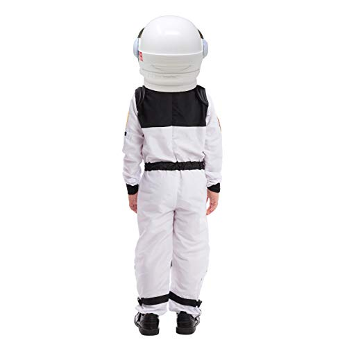 Astronaut NASA Pilot Costume with Movable Visor Helmet for Kids, Boys, Girls, Toddlers Space Pretend Role Play Dress Up, School Classroom Stage Performance, Halloween Party Favor (Small (5-7yr))…