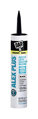 Dap 18126 10.1 Oz Black Alex Plus Acrylic Latex Caulk Plus Silicone