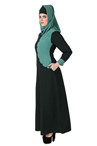 MyBatua Dark & Light Green Kashibo Musulmanes Ropa Casual & Formal Burqa Abaya AY-501