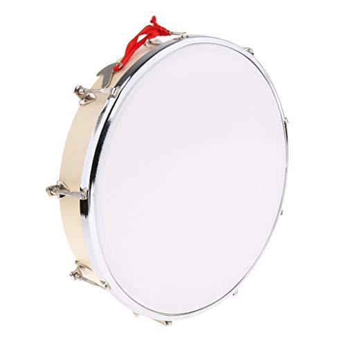 kesoto Adjustable Handheld Drum Mini Hand Percussion Tambourine With Tuning Key - Wood, 10inch