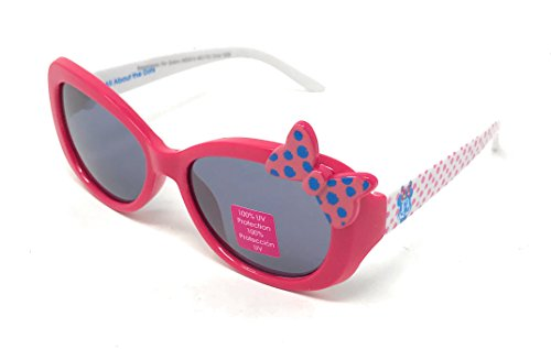 Price comparison product image Disney Junior Store Minnie Mouse Girl's Sunglasses in Red with Bow - 100% UV Protection