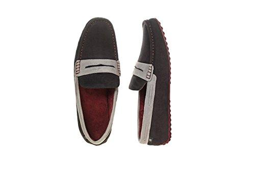 Dearfoams Tofflor Svart Färgblock Penny Loafers - Storlek Medium 9-10