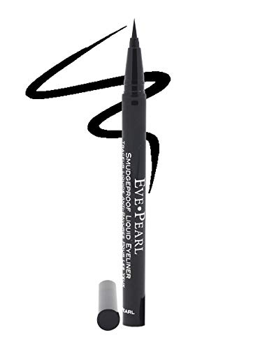 EVE PEARL Liquid Smudgeproof Eyeliner Brush Tip Eyes And Brows Makeup Rich Color All Day Lasting Liner (Black Pearl)