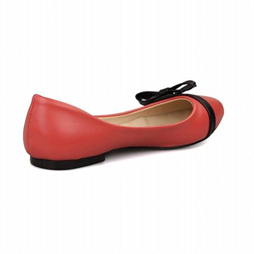 Carol Schoenen Chic Dames Assorti Kleuren Bowkonts Elegantie Manchet Casual Flats Schoenen Rood