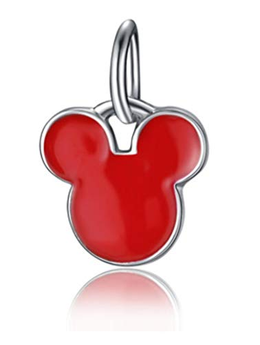 J&M Dangle Red Mouse Head Charm for ()