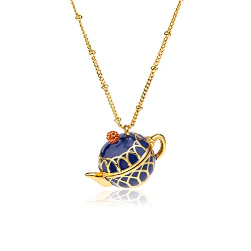 - JUICY GRAPE Hand Painted Teapot Pendant Enamel Necklace Fashion Jewelry Long Chain Choker Gifts for Women