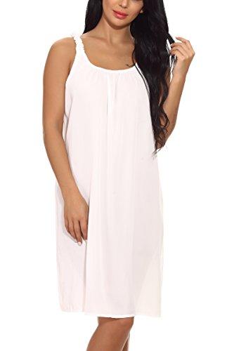 Costume Summer Lungo Spiaggia Abito Bagno Casual Cover Da Ups Baby Bianco Maniche Sciolto Donna Memory Senza qSERwPFpFz