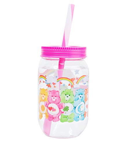 Care Mug Bears - Care Bears Mason Jar With Straw